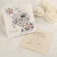 Style Classique Pli en 3 Cartes d'invitations (Lot de 50)