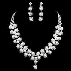 Gorgeous Alloy With Pearl/Rhinestone Ladies' Jewelry Sets