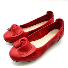 Women's Real Leather Flat Heel Flats أحذية