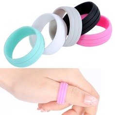 Modern Silicone Fashional Resin Fashion Rings Gifts