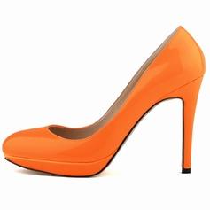 Kvinnor Lackskinn Stilettklack Pumps Stängt Toe skor