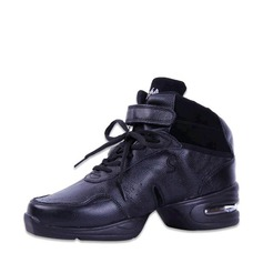 Unisex Real Leather Sneakers Modern Practice Dance Shoes