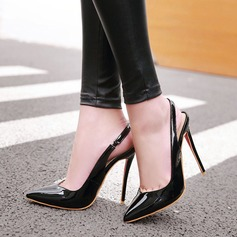 Women's Leatherette Stiletto Heel Sandals With Elastic Band shoes