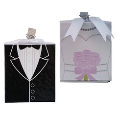 Side by Side Groom And Bride Photo Album Wedding Favors