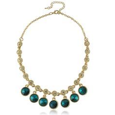 Schöne Legierung mit Kristall Damen Halsketten
