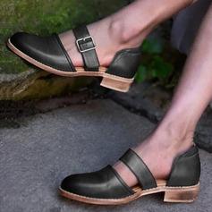 Kvinnor PU Låg Klack Sandaler med Spänne skor