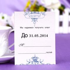 Personlig Blom-design Pärla Papper Svarskort (Sats om 50)