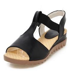 Femmes Similicuir Talon compensé Sandales Compensée À bout ouvert Escarpins avec Autres chaussures