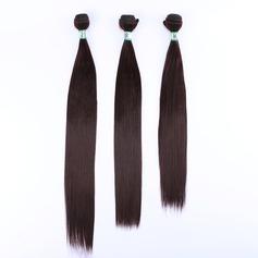 Tout droit cheveux synthétiques Tissage en cheveux humains (Ensemble de 3) 210g