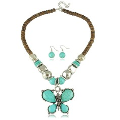 Mooi Legering Imitation Turquoise Dames Sieraden Sets