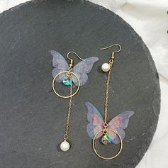 Chic Legering Imiteret Pearl med Imiteret Pearl Kvinder Mode øreringe (Sæt af 2)