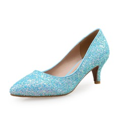 Women's Sparkling Glitter Kitten Heel Pumps With Sparkling Glitter shoes