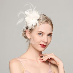 Ladies' Fashion Feather/Net Yarn With Feather Fascinators