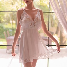 Feminine Charming Lace/Chinlon Babydolls