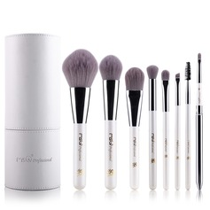 Kunstmatige Vezels Zuivere 8Pcs Wit Buidel Make-up Voorraad