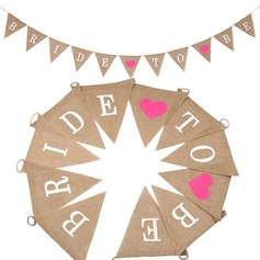 """Bride To Be"" Beautiful Hemp Rope/Linen Banner"