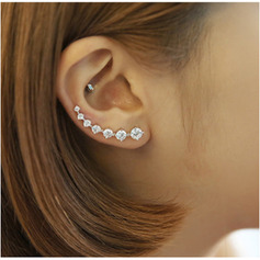 Beautiful Crystal Silver With Imitation Crystal Women's Fashion Earrings