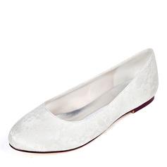 Women's Lace Flat Heel Flats (047221338)