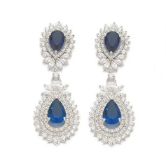 Magnificent Zircon Ladies' Earrings