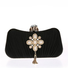 Elegant Beading Grepp/Handledsväskor/Satchel/Brudväska/Mode handväskor/Makeup Väskor/Lyx Bag