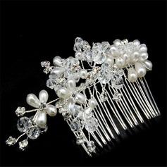 Unique Cristal/De faux pearl Des peignes et barrettes (Vendu dans une seule pièce)