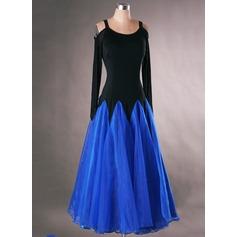 Donna Abbigliamento danza Dello spandex Del organza Ballo latino Abiti