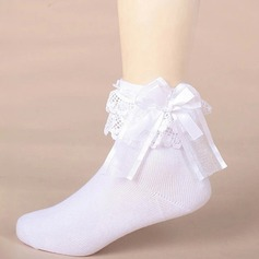 Girl's With Bowknot Stitching Lace (207166165)