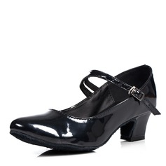 Femmes Cuir verni Escarpins Salle de bal Swing avec Boucle Chaussures de danse