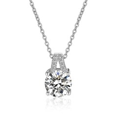 Unique Zircon Silver With Zircon Ladies' Fashion Necklace (Sold in a single piece)