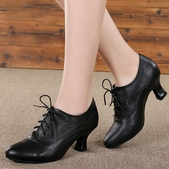 Women's Real Leather Latin Practice Dance Shoes (053130686)