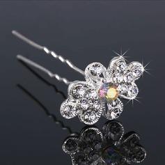 En forme de fleur Alliage/Perles d'imitation épingles à cheveux (Lot de 3)