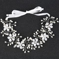 Damer Elegant Strass/Legering/Fauxen Pärla Pannband med Strass/Venetianska Pärla