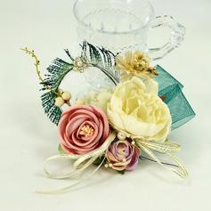 Femenino Cintas/Flores de seda Ramillete de muñeca - Ramillete de muñeca