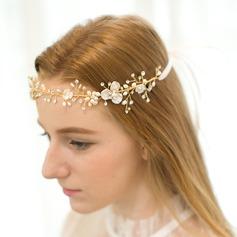 Elegante Strass/Liga/Pérolas de água doce A testa de jóias/Tiaras