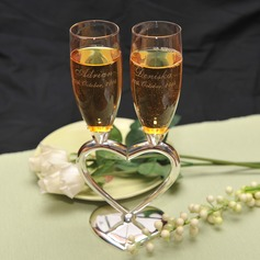 Personalized Heart design Zinc Alloy/Glass Toasting Flutes  (118031389)