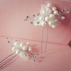 Filles Charmant Alliage/De faux pearl épingles à cheveux (Lot de 2)