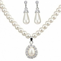 Legering/Imiteret Pearl med Imiteret Pearl Ladies ' Smykke Sæt