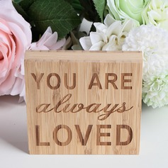 """YOU ARE ALWAYS LOVED"" Nice Square Design Bamboo Wedding Sign"