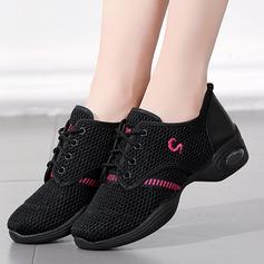 Женщины кожа Ткань Танцевальные кроссовки Современный Джаз Танцевальные кроссовки Обувь для танцев
