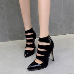 De mujer Cuero Tacón stilettos Cerrados Botas Botas al tobillo con Cremallera Agujereado zapatos