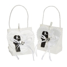 Heart style Handbag shaped Favor Bags With Ribbons (Set of 12)