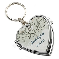 Personalized Summer Breeze Stainless Steel Keychains/Compact Mirror