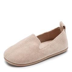 Girl's Round Toe Closed Toe Velvet Flat Heel Flats Flower Girl Shoes