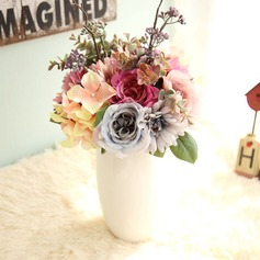 Classic Free-Form Satin Bridal Bouquets -