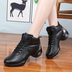 Женщины кожа Танцевальные кроссовки Современный Джаз Танцевальные кроссовки Обувь для танцев