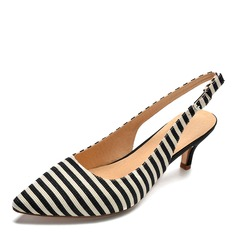 Kvinnor Tyg Stilettklack Sandaler Pumps skor