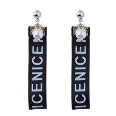 Shining Alloy Cloth Fashion Earrings