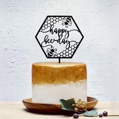 """""""HAPPY"""" Acrílico Decorações de bolos"""