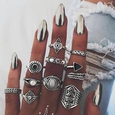 Mode Legering Steentjes Acryl met Strass Vrouwen Fashion Ringen (Set van 10)