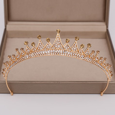 Ladies Vintage Alloy Tiaras With Rhinestone